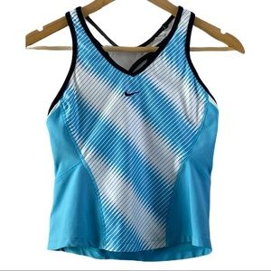 3/$20 Nike Racerback blue and white tank size S P